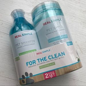 Real Simple Shampoo and Wipes